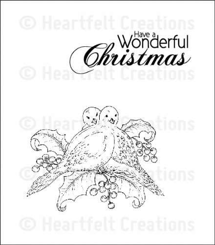 HCPC 3621~ DOVE OF PEACE  PreCut Set ~ Festive Christmas Collection ~  Heartfelt Creations